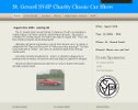 St. Gerard Charity Classic Car Show website Image